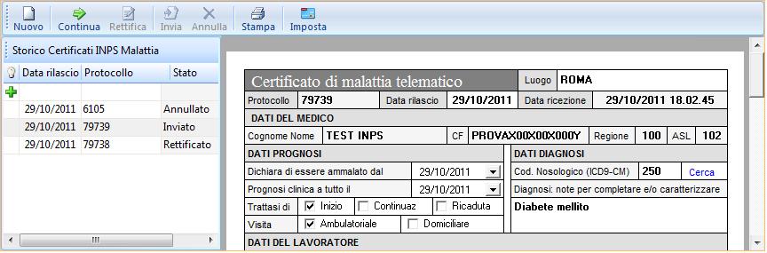 certificato malattia telematico inps
